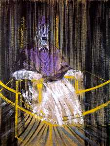 Francis Bacon - study after velazquez-s portrait of pope innocent x, 1953