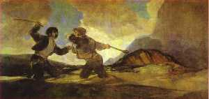Francisco De Goya - Fight with Clubs