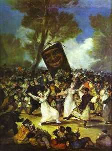 Francisco De Goya - The Burial of the Sardine