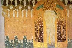 Gustav Klimt - Beethoven Frieze(detail)02