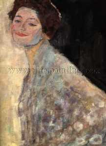 Gustav Klimt - Portrait of a Lady in White(unfinished)
