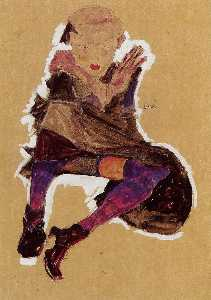 Egon Schiele - Seated Young Girl