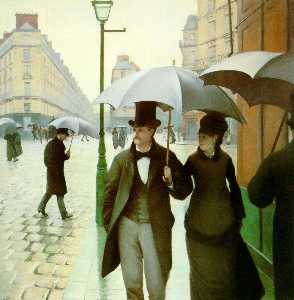 Gustave Caillebotte - Paris street, Rainy Day