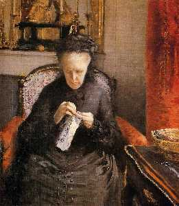 Gustave Caillebotte - Portait of Madame Martial Caillebote (the artist-s mother)
