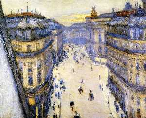 Gustave Caillebotte - Rue Halevy, Seen from the Sixth Floor