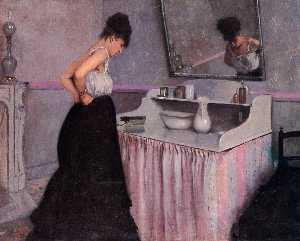 Gustave Caillebotte - Woman at a Dressing Table