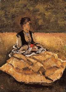 Gustave Caillebotte - Woman Seated on the Grass (fragment)