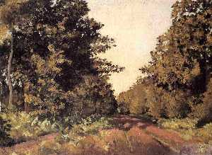 Gustave Caillebotte - Yerres, Woods at la Grange, Path of the Great -Ha-Ha-
