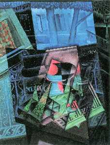 Juan Gris - Still Life before an Open Window aka Place Ravignan