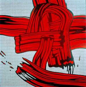 Roy Lichtenstein - Red Painting (Brushstroke)