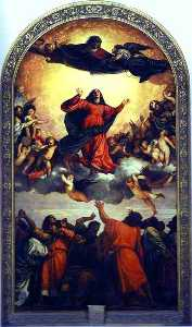 Tiziano Vecellio (Titian) - Assumption of the Virgin ..