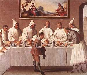 Francisco Zurbaran - St. Hugo of Grenoble in t..