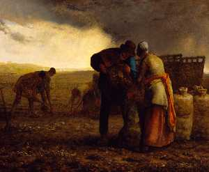 Jean-François Millet - The Potato Harvest