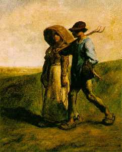 Jean-François Millet - The Walk to Work (Le Depa..