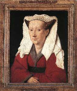 Jan Van Eyck - Portrait of Margareta van..