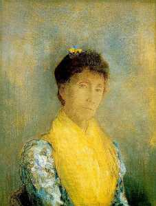 Odilon Redon - Woman with a Yellow Bodice