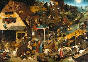 Pieter Bruegel The Elder - Netherlandish Proverbs