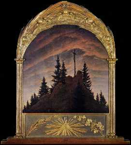 Caspar David Friedrich - Cross in the Mountains (T..