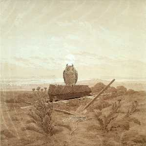 Caspar David Friedrich - Landscape with Grave, Cof..