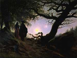 Caspar David Friedrich - Man and Woman Contemplati..