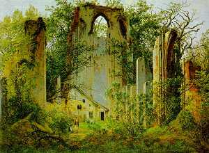 Caspar David Friedrich - The Ruins of Eldena Abbey..