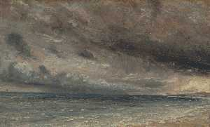 John Constable - The Coast at Brighton - S..