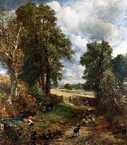 John Constable - The Cornfield
