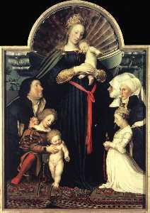 Hans Holbein The Younger - Darmstadt Madonna