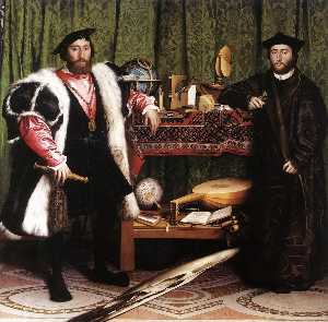 Hans Holbein The Younger - Jean de Dinteville and Ge..