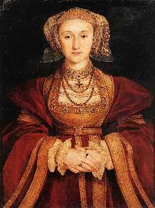 Hans Holbein The Younger - Portrait of Anne of Cleve..