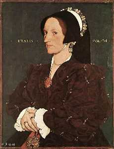 Hans Holbein The Younger - Portrait of Margaret Wyatt, Lady Lee