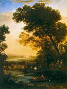 Claude Lorrain (Claude Ge.. - Ideal Landscape with the ..