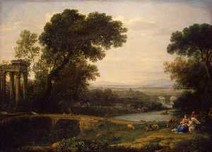 Claude Lorrain (Claude Ge.. - Landscape with the Rest o..