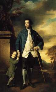 Joshua Reynolds - Edward Morant and His Son John