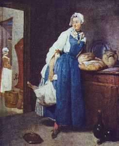 Jean-Baptiste Simeon Chardin - Servant Returning from the Market (La Pourvoyeuse)