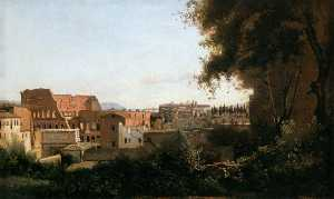 Jean Baptiste Camille Corot - The Coliseum Seen from the Farnese Gardens