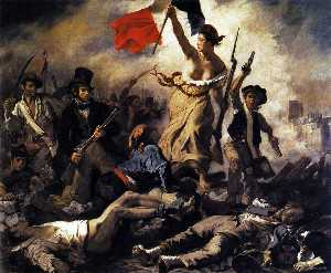 Eugène Delacroix - Liberty Leading the Peopl..