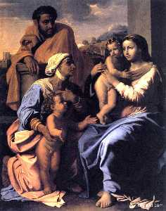 Nicolas Poussin - The Holy Family with St. ..