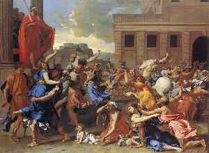Nicolas Poussin - The Rape of the Sabine Wo..
