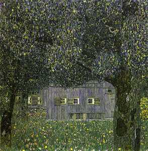 Gustav Klimt - Farmhouse in Upper Austria