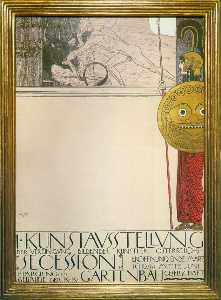 Gustav Klimt - Poster for the 1st Secession exhibition