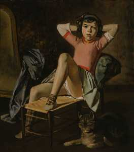 Balthus (Balthasar Klossowski) - Girl with Cat