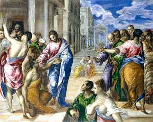 El Greco (Doménikos Theot.. - Christ Healing the Blind ..
