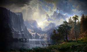 Albert Bierstadt - Among the Sierra Nevada M..