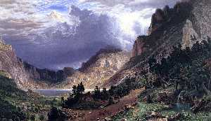 Albert Bierstadt - Storm in the Rocky Mountains, Mt. Rosalie