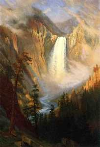 Albert Bierstadt - Yellowstone Falls