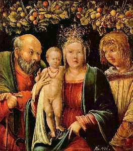 Albrecht Altdorfer - Holy Family with an Angel