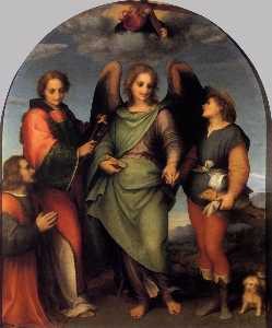 Andrea Del Sarto - Tobias and the Angel with St Leonard and Donor