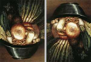 Giuseppe Arcimboldo - Vegetables In A Bowl Or T..