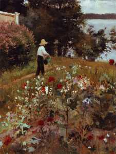 Albert Edelfelt - The Garden at Haikko